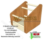 05-WP-097 - Organizer Rack Downloadable Woodworking Plan PDF
