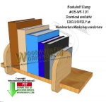 Bookshelf Clamp Downloadable Scrollsaw Woodworking Pattern