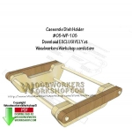 05-WP-105 - Casserole Dish Holder Downloadable Scrollsaw Woodworking Pattern PDF
