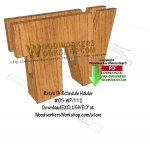 TV Guide Stand Downloadable Scrollsaw Woodworking Pattern