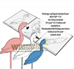 Flamingo and Egret Scrollsaw Woodworking Plans
