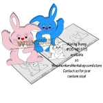 05-WP-115 - Waving Bunnies Downloadable Scrollsaw Woodworking Plan PDF
