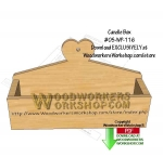 05-WP-116 - Candle Box Downloadable Scrollsaw Woodworking Pattern PDF
