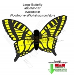 05-WP-117 - Butterfly Downloadable Scrollsaw Woodcrafting Pattern PDF