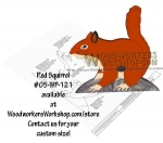 05-WP-121 - Red Squirrel Downloadable Scrollsaw Woodworking Plan PDF