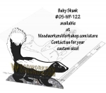 Baby Skunk Downloadable Scrollsaw Woodworking Plan
