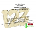 House Numbers Downloadable Scrollsaw Woodworking Pattern