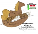 05-WP-124 - Tabletop Rocking Horse Downloadable Scrollsaw Woodcrafting Pattern PDF