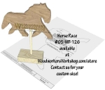 05-WP-126 - Horse Race Downloadable Scrollsaw Woodworking Plan PDF