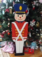 Toy Soldier Downloadable Jigsaw Scrollsaw Woodworking Plan PDF, toy solider,Christmas,soldiers,xmas,plywood,scrap wood projects,downloadable PDF,tole painting wood crafts,scrollsawing patterns,jigsaw,scrollsaw,4-H Club,4H projects,scouts,girl guides,agricultural m