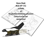 Mama Skunk Downloadable Scrollsaw Woodworking Plan PDF, skunks,animals,wildlife,scrap wood projects,downloadable PDF,tole painting wood crafts,scrollsawing patterns,4-H Club,4H projects,scouts,girl guides,drawings,Accents In Pine,woodworking plans,woodwork