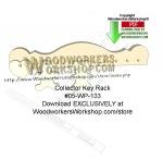 Colonial Key Rack Downloadable Scrollsaw Woodcrafting Pattern