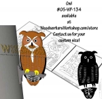 05-WP-134 - Owl Downloadable Scrollsaw Woodworking Plan PDF