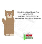 Kitty Match Stick Mantle Box Downloadable Scrollsaw Woodcrafting Pattern