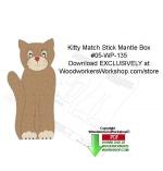 Kitty Match Stick Mantle Box Downloadable Scrollsaw Woodcrafting Pattern