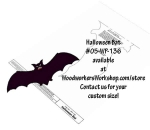 05-WP-136 - Halloween Bat Downloadable Scrollsaw Woodworking Plan PDF