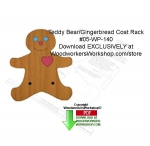 05-WP-140 - Teddy/Gingerbread Coat Rack Downloadable Woodcrafting Pattern PDF