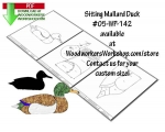 Sitting Mallard Downloadable Scrollsaw Woodworking Plan