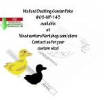 05-WP-143 - Mallard Duckling Downloadable Scrollsaw Woodworking Plan PDF