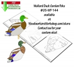05-WP-144 - Mallard Duck Downloadable Scrollsaw Woodworking Plan PDF