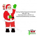 Waving Santa 40 inches tall Downloadable Woodcrafting Pattern