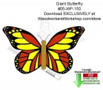 fee plans woodworking resource from WoodworkersWorkshop® Online Store - butterfly scrollsaw,planter pokes,garden decorations,butterflies,templates,scrap wood projects,downloadable PDF,tole painting wood crafts,scrollsawing patterns,4-H Club,4H projects,scouts,girl guides,