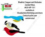 3 Birds - Chickadee, Bluebird and Scarlet Tanger Scrollsaw Pattern