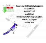 05-WP-153 - 2 Garden Pokes - Bluejay and Woodpecker Scrollsaw Woodworking Plan PDF