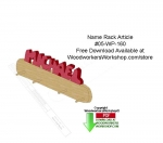 Name Rack Article Downloadable Scrollsaw Free Woodworking Plan