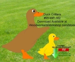 Duck Critters Downloadable Scrollsaw Woodcrafting Pattern