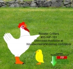 Rooster Critters Downloadable Scrollsaw Woodcrafting Pattern
