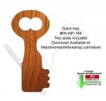 Giant Key Downloadable Scrollsaw Woodcrafting Pattern