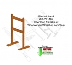 05-WP-165 - Blanket Stand Downloadable Scrollsaw Woodcrafting Pattern PDF
