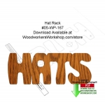 05-WP-167 - Hat Rack Downloadable Scrollsaw Woodcrafting Pattern PDF