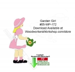fee plans woodworking resource from WoodworkersWorkshop® Online Store - garden girl,watering can,shadow yard art,silhouettes,stencils,templates,scrap wood projects,downloadable PDF,tole painting wood crafts,scrollsawing patterns,4-H Club,4H projects,scouts,girl guides,dra