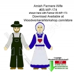Amish Farmer Wife Downloadable Scrollsaw Woodworking Patterns