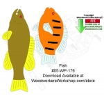 05-WP-176 - Fish Downloadable Scrollsaw Woodcrafting Pattern PDF