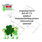 fee plans woodworking resource from WoodworkersWorkshop® Online Store - st patricks day,leprechauns,luck of the irish,scrap wood projects,downloadable PDF,tole painting wood crafts,scrollsawing patterns,4-H Club,4H projects,scouts,girl guides,drawings,Accents In Pine,wood