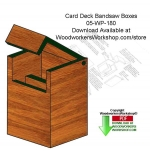 05-WP-180 - Card Deck Wood Box Downloadable Scrollsaw Woodworking Patterns PDF