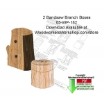 05-WP-182 - 2 Bandsaw Branch Boxes Downloadable Scrollsaw Woodworking Patterns PDF