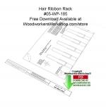 Hair Ribbon Rack Downloadable Scrollsaw Free Woodcrafting Pattern