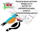 Swallow and Pileated Woodpecker Whirligigs Scrollsaw Pattern PDF, whirligigs,birds,whirlygigs,bluejay,goldfinch,red cardinal,scrap wood projects,downloadable PDF,tole painting wood crafts,scrollsawing patterns,4-H Club,4H projects,scouts,girl guides,drawings,Accents