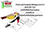 Flicker and Grosbeak Whirligigs Scrollsaw Pattern