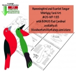Scarlet Tanger and Hummingbird Scrollsaw Woodworking Plan PDF, Scarlet Tanger,Hummingbords,whirligigs,scrap wood projects,whirlygigs,downloadable PDF,tole painting wood crafts,scrollsawing patterns,4-H Club,4H projects,scouts,girl guides,drawings,Accents In Pine,