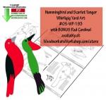 Scarlet Tanger and Hummingbird Scrollsaw Woodworking Plan