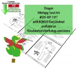 05-WP-197 - Dragon with Bonus Cardinal Whirligig Scrollsaw Woodworking Plan PDF