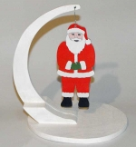 Christmas Santa Ornament Downloadable Scrollsaw Woodworking Plan