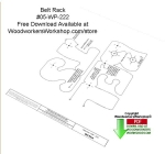 05-WP-222 - Belt Rack Free Downloadable Scrollsaw Woodcraft Pattern PDF