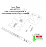 05-WP-223 - Keys Rack Free Downloadable Scrollsaw Woodcraft Pattern PDF