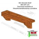 05-WP-225 - Mini Bracket Shelf Download Woodcraft Pattern PDF